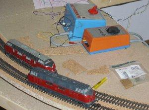 alte V200er von Märklin und Roco